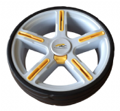 Powakaddy 2015 FW3 / FW5 / FW7 Rear Wheel (Yellow Inserts)